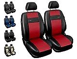 Carpendo Sitzbezüge Auto Vordersitze Autositzbezüge Schonbezüge Vorne mit Airbag System X-Line - Rot