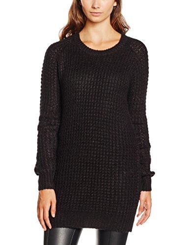NIZZIN Damen Pullover Camelias Schwarz (Black 001), Large