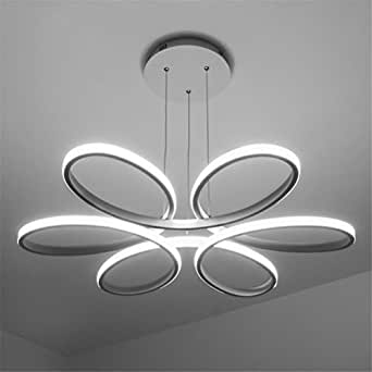 Mkj white lampadario moderno led luci a soffitto per for Lampadari a led