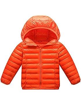 Giacche Piumino Con Cappuccio Classico Ultra Leggero Del Cappotto Parka Zipper Invernale Per Unisex Bambine E...