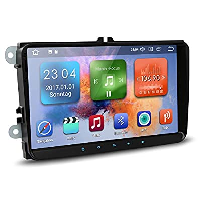 Autoradio NEOTONE WRX-990A für VW | Skoda | Seat | Navi mit Europakarten 2019 | 9 Zoll | DAB+ Unterstützung | USB | 4K Ultra HD Video | 4GB Arbeitsspeicher | WLAN | Bluetooth | MirrorLink | RDS