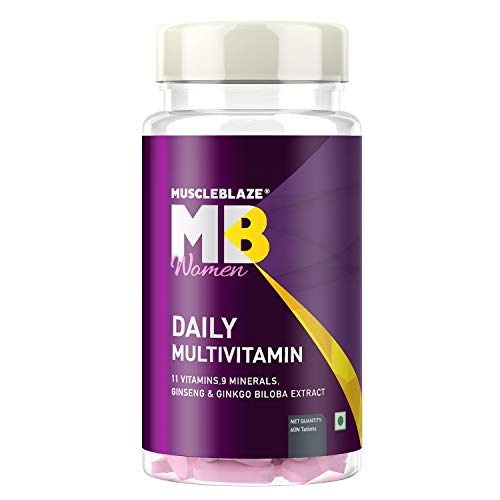 MuscleBlaze Daily Multivitamin for Women -11 Vitamins & Minerals (60 Capsules)
