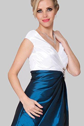 SEXYHER Gurte mit V-Ausschnitt Ausschnitt Cocktail Brautjungfern -Kleid - COJ 1784 BiColor