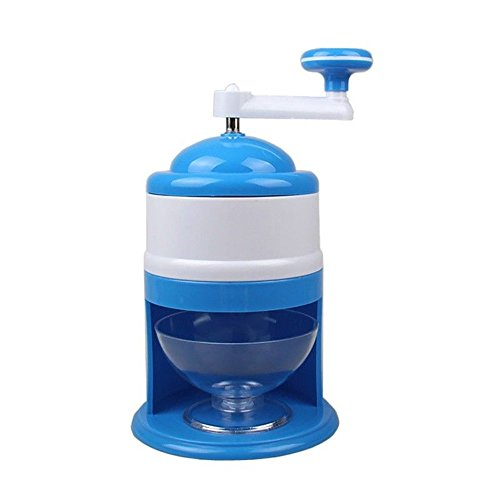 Yefun Ice Crusher Portable Hand Crank Manual Ice Shaver Crusher Shredding Snow Cone Maker Machine for Home Kitchen Party