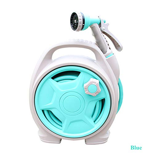 Guomvp Mini tragbare Autowaschleitung Hochdruck Wasserpistole Schlauch Set landwirtschaftliche Hausgarten Blumen Speicher Anzug Warenkorb blau -