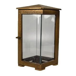 Art-Odlew Moderne Grablampe Bronze Datteln, Höhe 23 cm 2,0 Kg