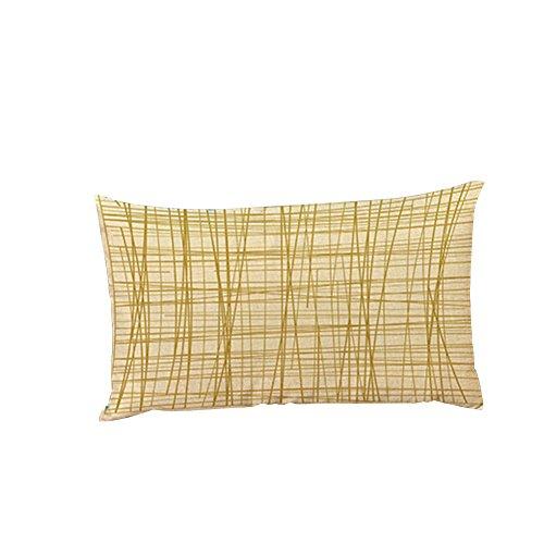 TELLW modèle motif coton linge de table chaise taie d'oreiller long coussin voiture
