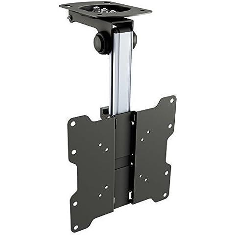 RICOO Soporte TV Techo para Monitor D0122 soporte techo monitor giratorio inclinable abatible brazo orientable soporte para inclinación del techo soporte monitor para pantalla plana VESA 75x75 100x100 200x100 200x200 para 17 - 42