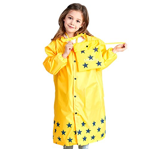 Chubasquero amarillo con capucha y hueco para mochila