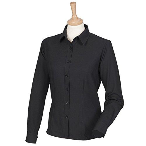 Frauen-Wicking antibakterieller Langarm-Shirt Schwarz