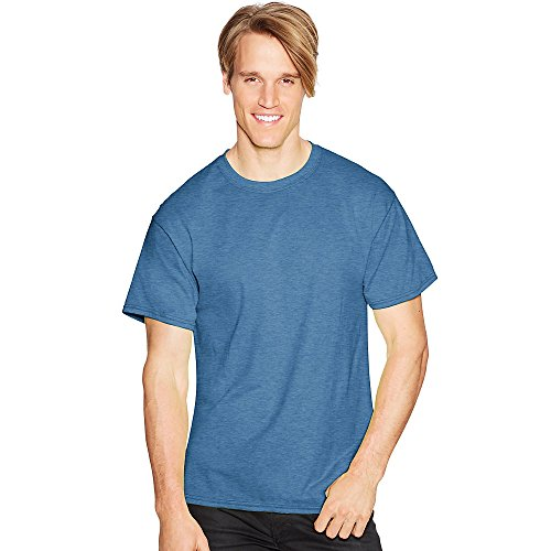 Hanes Comfort Blend Cotton Poly T-Shirt Heather Blue