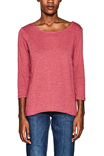 ESPRIT Damen Langarmshirt 998EE1K804, Rot (Cherry Red 615), Medium