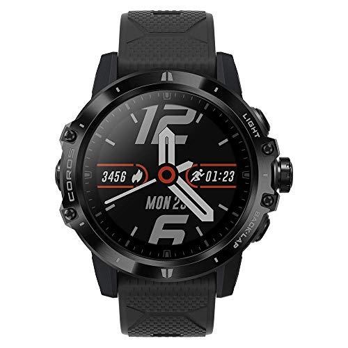 Reloj Multiaventura COROS VERTIX GPS, esfera de titanio y cristal de zafiro, navegación, monitoreo oxígeno en sangre 24/7, entrenador, botón digital y batería ultra duradera incluso en climas extremos