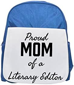 Proud Mom of a Literary Editor printed kid's Bleu  backpack, Cute backpacks, cute small backpacks, cute Noir  backpack, cool Noir  backpack, fashion backpacks, large fashion backpacks, Noir  fashion ba   Finement Traité