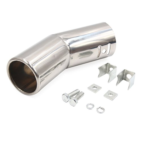 sourcingmap Stainless Steel Exhaust Tail Muffler Tip Pipe for Car