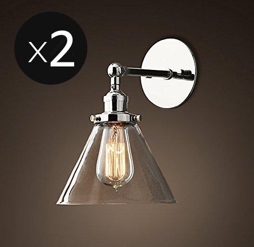 Saint Mossi® Juego de 2 Vintage Industrial Moderno Lámpara de pared moderna Lámpara de pared Lámparas de pared Edison