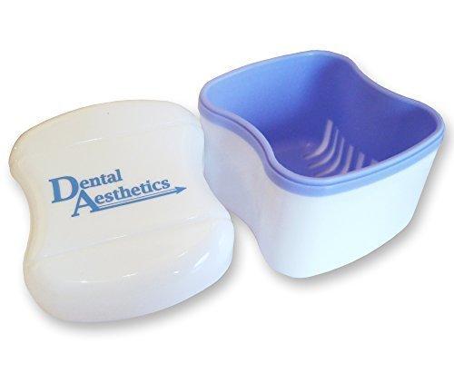 Zahnprothese Bad - Sammelbehälter für Einweichen Zahnersatz, Halterungen & andere Zahnärztliche Geräte - Lila