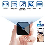 Mini Telecamera Spia WiFi Microcamera Nascosta Wireless HD 1080P Portatile Videocamera di Sorveglianza con Visione Notturna e Rilevazione di Movimento IP Telecamera di Sorveglianza per Esterno/Interno