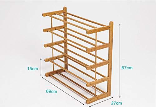 GRF Bambus Schuhregal Mehrschichtigen Einfachen Haushalt Wirtschaftliche Montage Schuhschrank Schlafsaal Schlafzimmer Massivholz Lagerregal