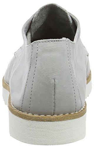 Fred De La Bretonnière Fred Lace Up Shoe White Sole Vigo, Derby femme Argent - Argenté