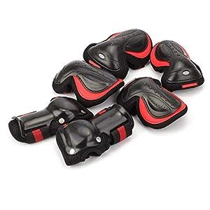 Schutzausrüstung Sport Set, Knie Ellenbogenschützer Und Handgelenk Pad Set Für Sport Safe Guard (6 Stück)