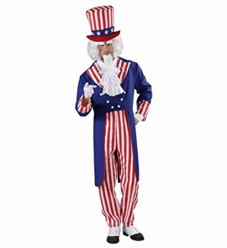 Kostüm Karneval Herren Kostüm Onkel Sam Hose Frack Hut * 20120, mehrfarbig (Erwachsene Kostüme Sam Onkel Erwachsenen)