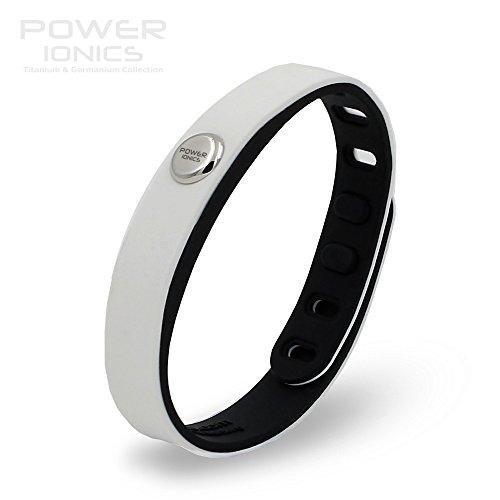 Power Ionics Bracelet Armband Powerarmband PowerIonics Ionenarmband Energie Wristband Magnet Armband 3000 Ions Smart Sports Bracelet Wristband PT066 (white/black)