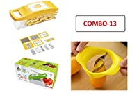Home Cube Plastic 12 in 1 Fruits and Vegetable Cutter with Mango Cutter