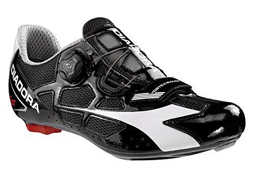 Diadora Scarpe Ciclismo Road - Vortex-Racer - Black/White - 43EU