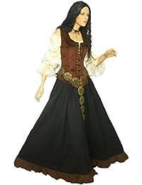 Dark Dreams Gothic Mittelalter LARP Kleid Marketenderin