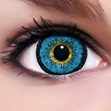 Linsenfinder Lenzera Circle Lenses blaue 'Angel Blue' ohne und mit Stärke + Kombilösung + Behälter Big Eyes farbige Kontaktlinsen