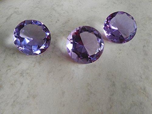 Bella-Vita Dapo 3x Dekokristalle Dekorationselement Glas-Deko-Kristall D4cm eine hübsche Geschenkidee für vielerlei Gelegenheiten Tischdekoration Dekostein