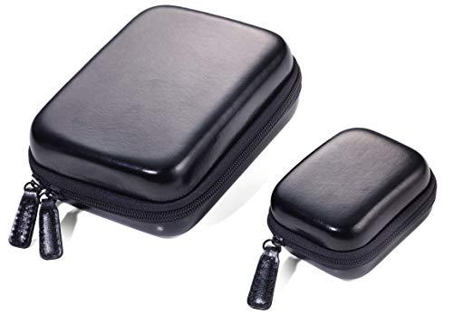 TROIKA ONPACK - CBO60/BK - Set aus 2 Organizer-Etuis mit Reißverschluss - Hardcase- kleines Etui: 2 Innenfächer - großes Etui: 2 Innenfächer + 1 entnehmbare Elastikband-Einlage - TROIKA-Original -