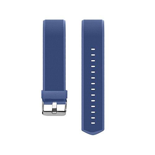 Muzili Einstellbares Ersatzband für Muzili YG3 Plus Fitness Armband mit 5 Farbe Schwarz Rot Grün Blau Violett (Blau)