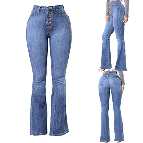 ❤️ Clearance! Women's Slim-Fit High Waist Denim Jeans Flared Pants Fashion Sexy Trousers by GreatestPAK