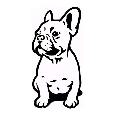 Französisch Esszimmer-möbel (Französisch Bulldogge Wandaufkleber Auto Stoßstange Frankreich Hund Abziehbilder 28x13cm)