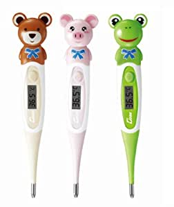 Brown Bear Baby Fever Thermometer Flexible Digital Ultrafast 10 Second Response Ideal for Children and Babies