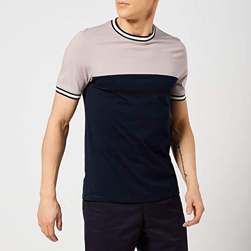 Ted Baker Silva T Shirt in Dusty Pink & Navy L (Männer Baker T-shirts Für Ted)