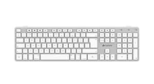 Kanex QWERTYX Bluetooth QWERTY UK Englisch Weiß - Tastaturen (Standard, Kabellos, Bluetooth, QWERTY, Weiß)