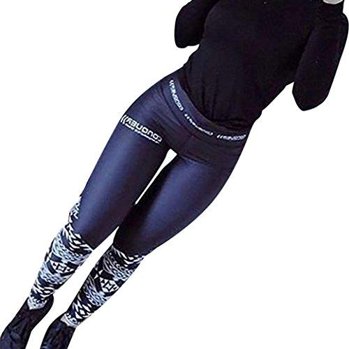 Yoga Hosen Damen, DoraMe Frauen Hohe Taille Sport Hose Studio Yoga Hosen Läuft Fitness Leggings Athletic Hose (L, Dunkelblau)