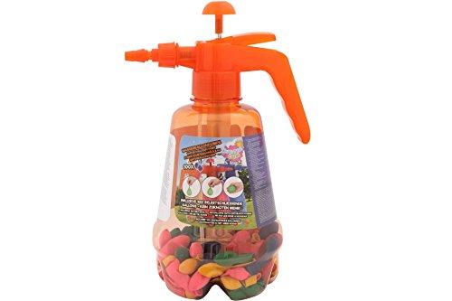 Unbekannt Wasserballons 100 STK. selbstschließend + Ballonpumpe orange