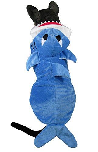 mangostyle Kostüm Kleid Kleid Hai für Hund Katze Latz Welpe Leine Auffanggurt Brust Soft verstellbar komfortabel Langlebig Verkabelung schön interessant (Hai-kostüm Hund)