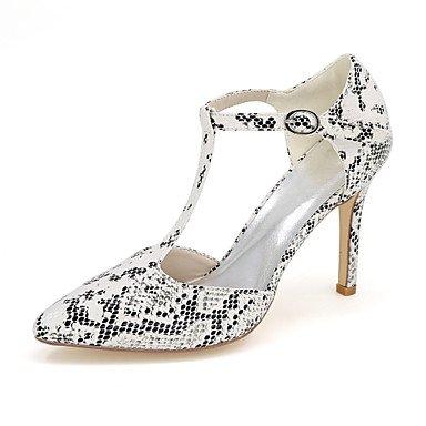 Moda Donna Sandali Sexy donna tacchi Primavera / Estate / Autunno tacchi / Punta abito in similpelle / Casual Stiletto Heel PrintBlack animale White