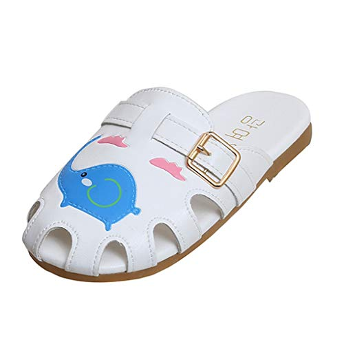 AIni Baby Schuhe,2019 Neuer Beiläufiges Mode Sale Kinder Säugling Kinder Baby Mädchen Jungen Karikatur Nette Strand Hausschuhe Sandalen Schuhe Kleinkinder Schuhe Lauflernschuhe Krabbelschuhe (34,Blau)