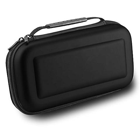 MallTEK Switch Case Voyage de Transport pour Nintendo Switch avec 10 Slots Intégrés de Carte du Jeu, Housse Switch Rigide en EVA Coque de Protection Portable Anti-choc pour Nintendo Switch Manette & autre Accessoires (Noir)