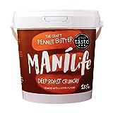 ManiLife Peanut Butter - All Natural, Single Origin, No Added Sugar, No Palm Oil - Deep Roast Crunchy - (1 x 1kg)