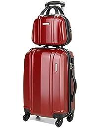 Ensemble valise 54 cm et vanity 29 cm MADISSON 60002 RED