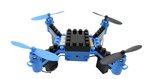 Flytec T11 DIY Building Blocks Drone Helicopter 2.4G 4CH Mini Drones 3D DIY Bricks Creative Quadcopter DIY Educational Toy Blue