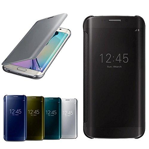 Handy Hülle Spiegel Flip Clear Smart View Case Cover Schutzhülle Tasche ZhinkArts für Apple IPhone 6/6S Rose Grün