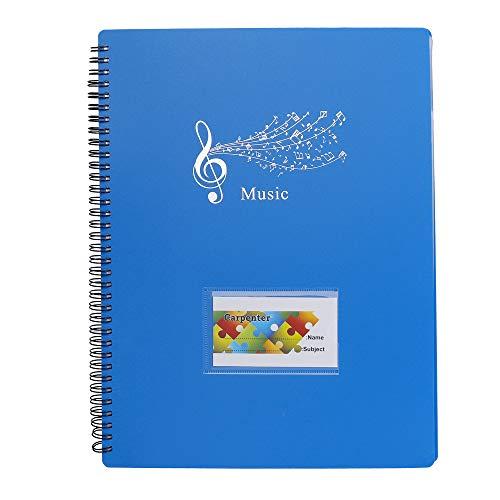 Musica Cartella Music Score Carta Foglio Nota Documento Fascicolo dellorganizzatore del Supporto Delle Cartelle con 40 Tasche